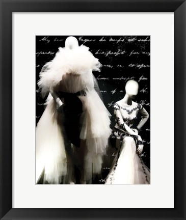 Framed Black and White Soiree Print