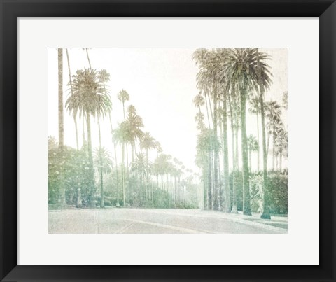 Framed Driving in Beverly Hills Print