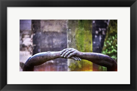 Framed Hands of Pere Print