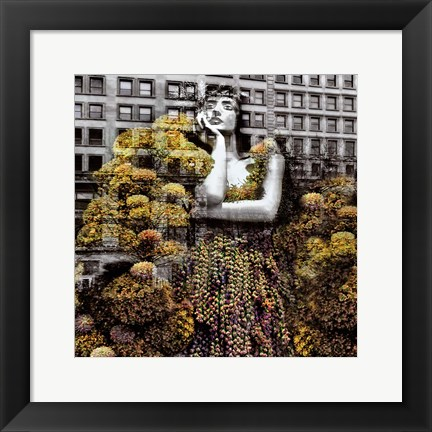 Framed NYC Gold Dress II Print