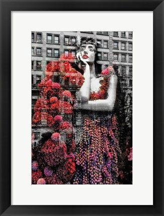 Framed NYC Red Dress Print