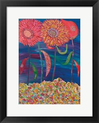 Framed Blooms of Mars Print
