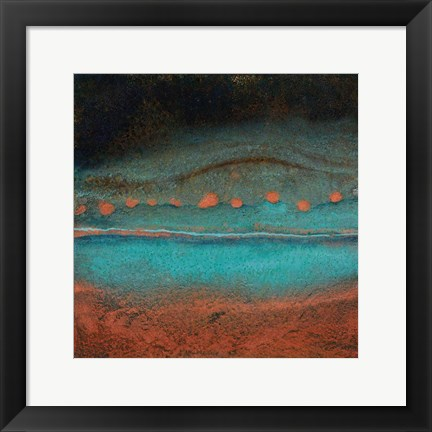 Framed Bonfire Hill - Square Print