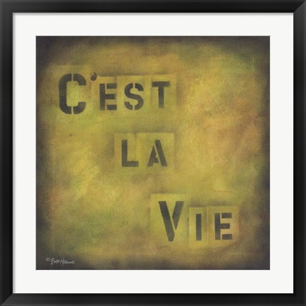 Framed French Battle Cry Print