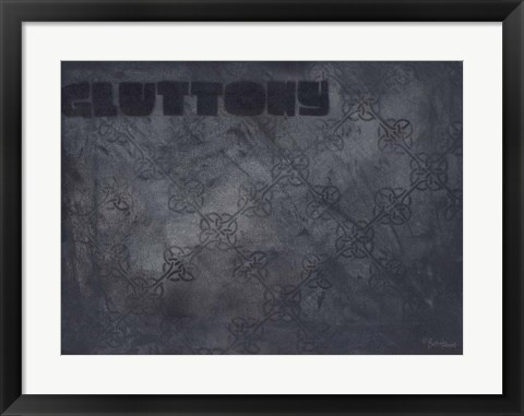 Framed Seven Deadly Sins - Gluttony Print
