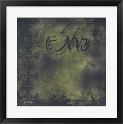 Framed Seven Deadly Sins - Envy Print
