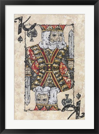 Framed King of Spades Print