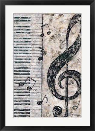 Framed Symphony in Piano Print