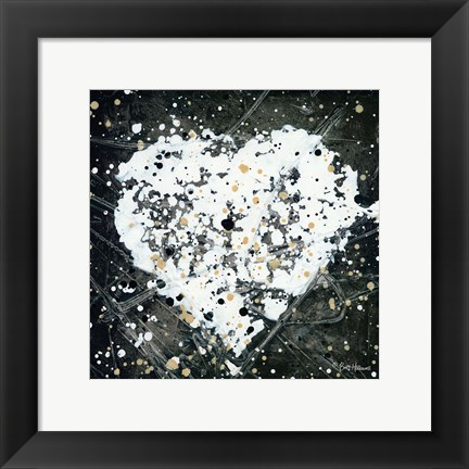 Framed Emotions Scenes White Heart Print