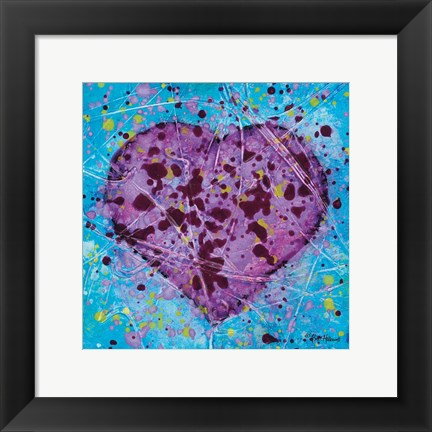 Framed Emotions Scenes Purple Heart Print