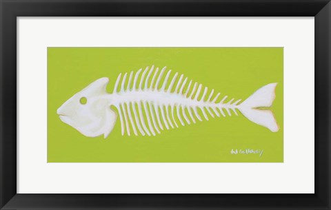 Framed Fish Bones Print