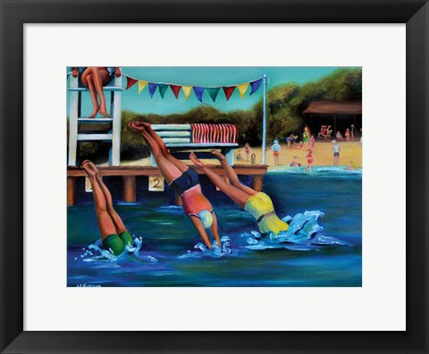 Framed Round Bay Water Carnival Print