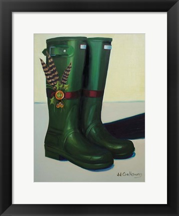 Framed Holiday Wellies Print