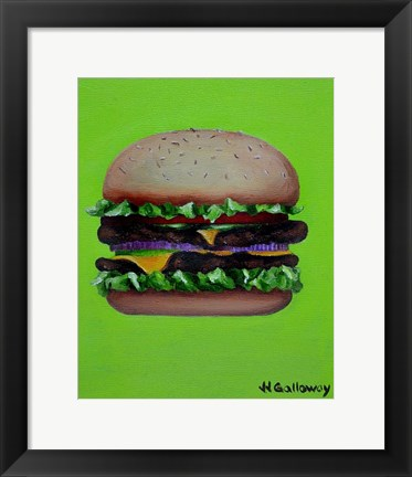 Framed Hamburger Deluxe Print