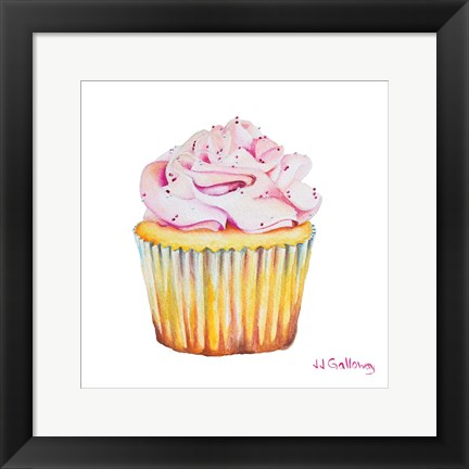 Framed Bon Gateau Rose Print