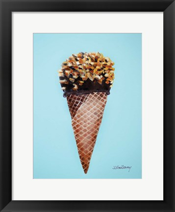Framed Nutty Ice Cream Cone Print