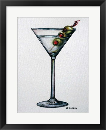 Framed Martini Print