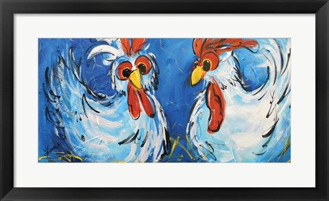 Framed Chicken Coop Print