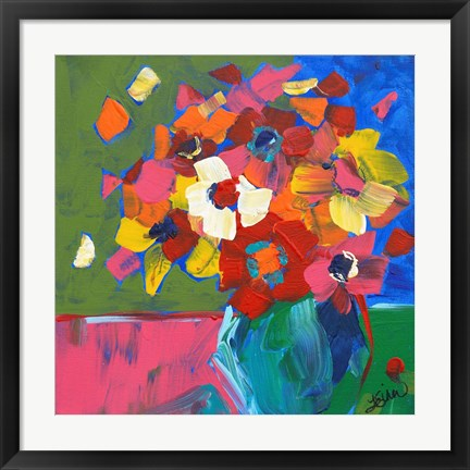 Framed Abstract Vase Print