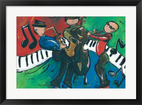 Framed Jazz Ensemble Print