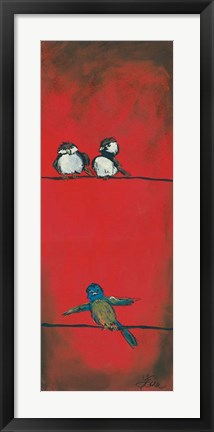 Framed Birds on a Wire - Right Side Print