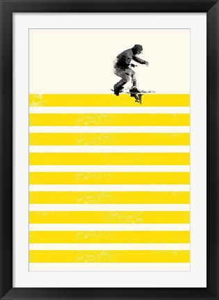 Framed Slide in Stripes Print