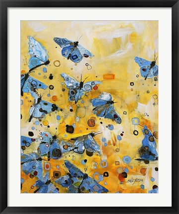Framed Metamorphosis Yellow Print
