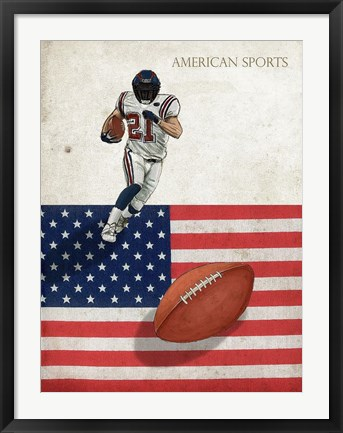 Framed American Sports: Football 1 Print