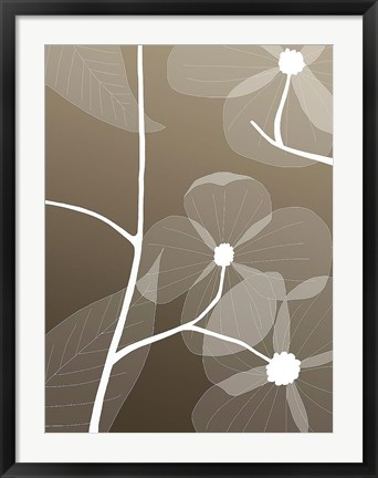 Framed Floral Silhouette 1 Print