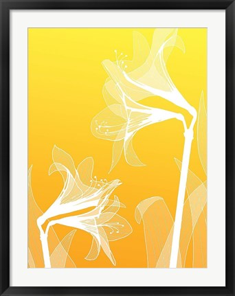 Framed Floral Silhouette 3 Print