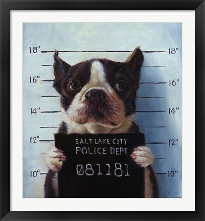 Framed Mug Shot Print