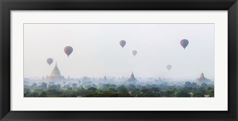 Framed Sunrise at Bagan Print