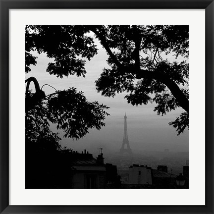 Framed Eiffel Tower View 1 Print