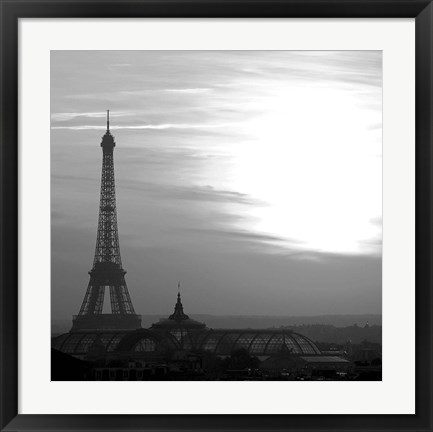 Framed Eiffel Tower View 2 Print