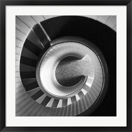 Framed Spiral Staircase No. 4 Print
