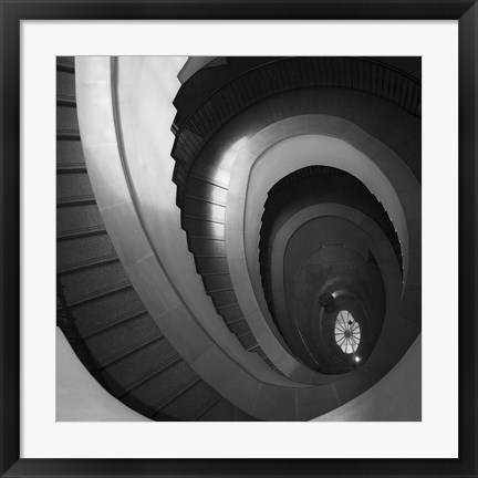 Framed Spiral Staircase No. 5 Print