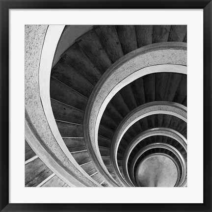 Framed Spiral Staircase No. 6 Print