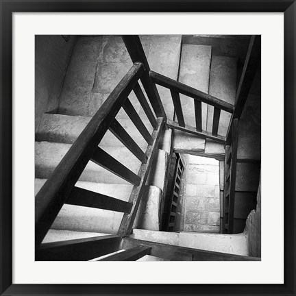 Framed Spiral Staircase No. 7 Print