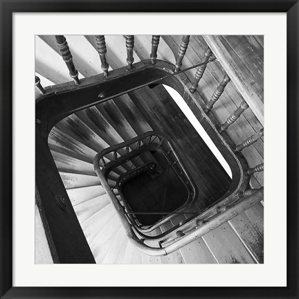 Framed Spiral Staircase No. 8 Print