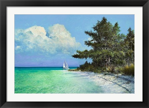 Framed Cayo Costa Beach Print