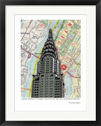 Framed Chrysler Building - NYC Print