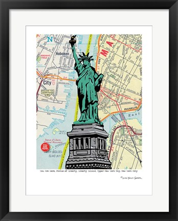 Framed Statue of Liberty - NYC Print