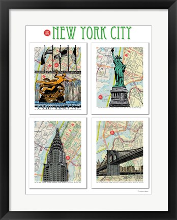 Framed New York City Poster Print