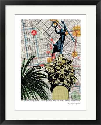 Framed Union Square Dewey Monument Print