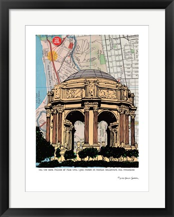 Framed Palace of Fine Arts Print