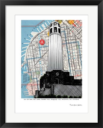 Framed Colt Tower - San Francisco Print