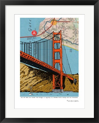Framed Golden Gate Bridge - San Francisco Print