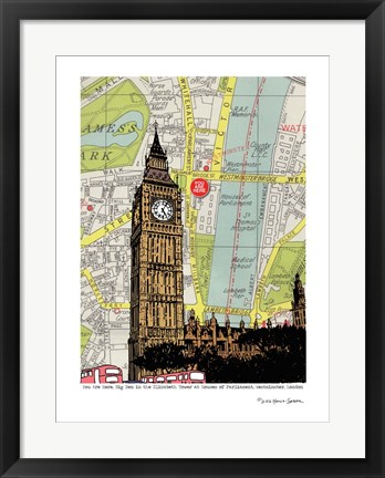 Framed Parliament and Big Ben London Print