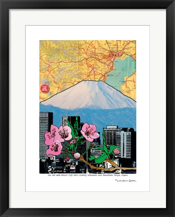 Framed Fuji-Cherry and Downtown Print