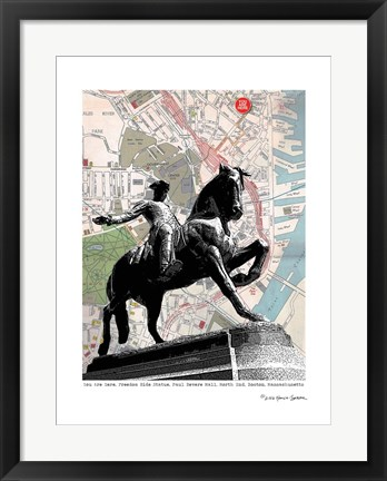 Framed Paul Revere Boston Print